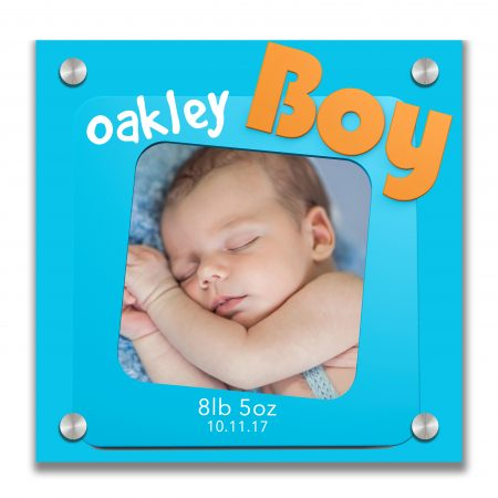 Blue Photo Frame with Boy Sign