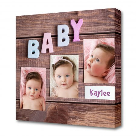 word baby and white frame photo