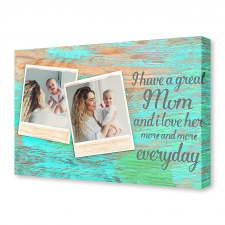 Retro style photo frames on rustic wooden background