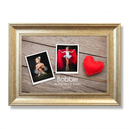 Two photo frames and valentines day toy heart