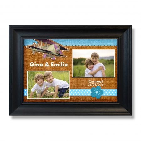 Decorative template with photo frames.
