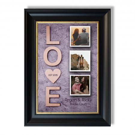Vertical wooden love letters rustic gray background. toned.