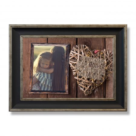 Empty frame and decorative heart for your design.