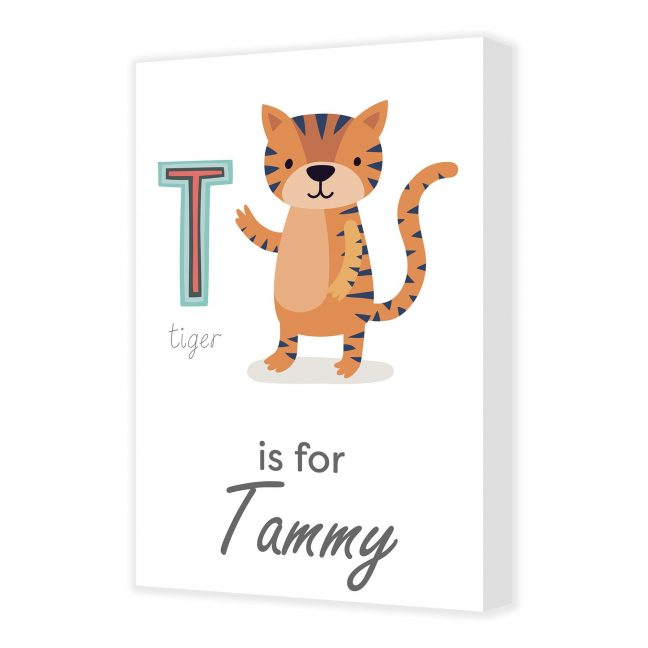 Alphabet T Personalised Canvas
