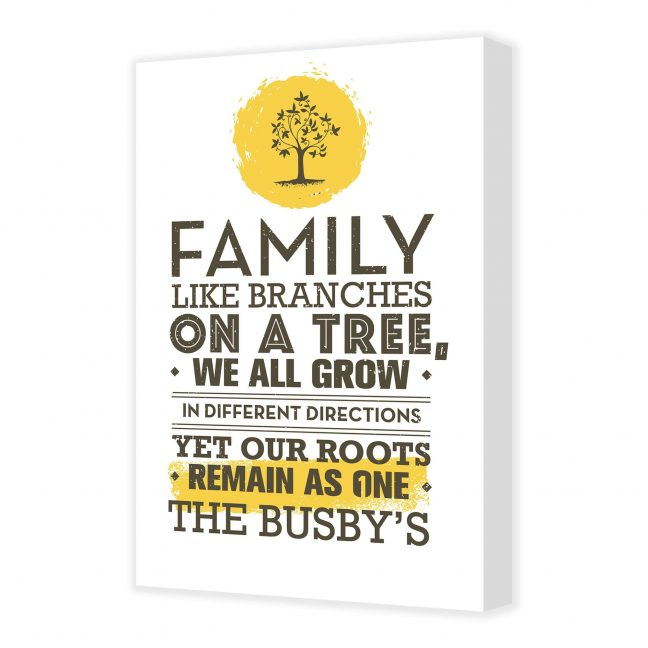 Family Tree Personalised Canvas