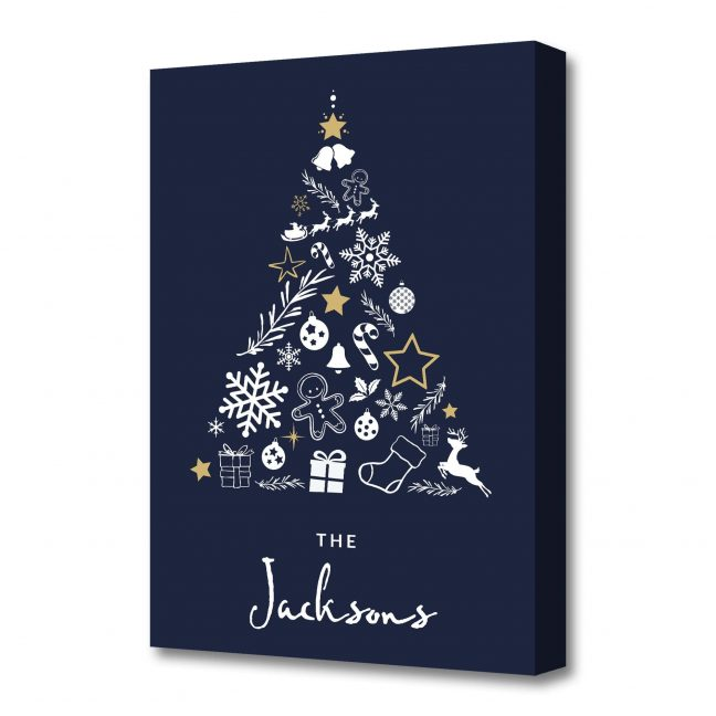 Christmas Tree Personalised Canvas