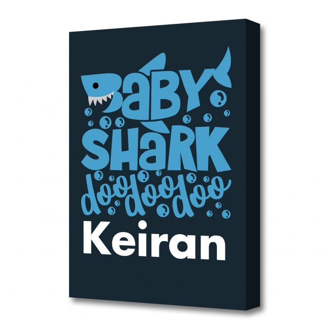 Baby Shark Personalised Canvas