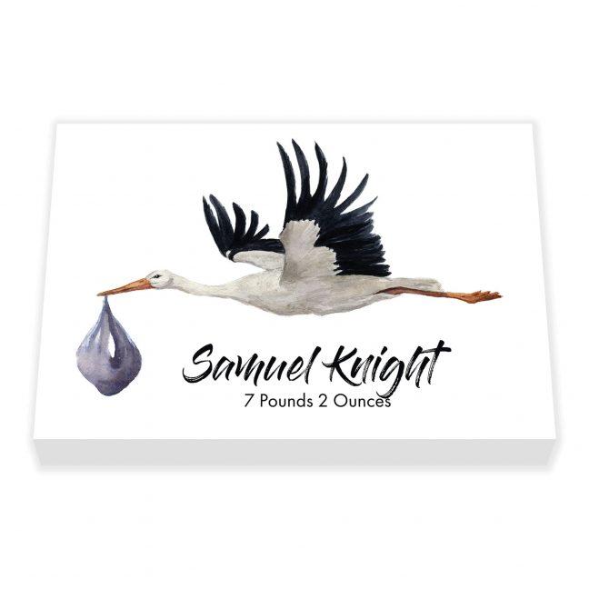 Stork Personalised Canvas