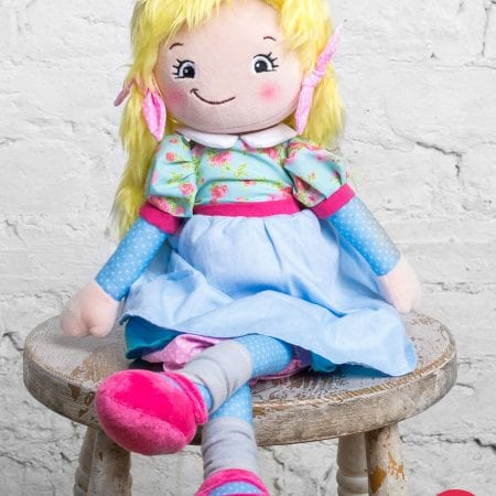 Joanna Blonde Hair Rag Doll